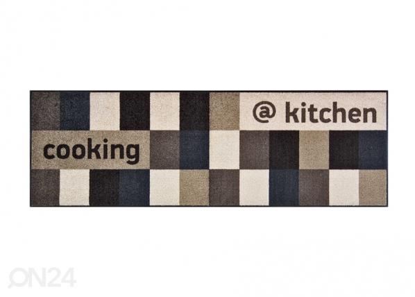 Matto @KITCHEN BROWNISH 60x180 cm A5-86961