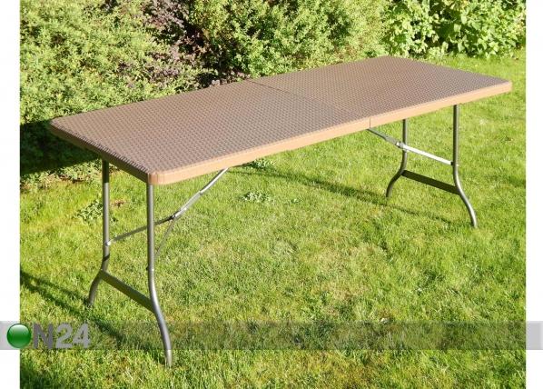 Kokoontaitettava puutarhapöytä ROTTINKI PO-87707