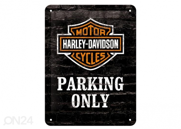Retro metallijuliste Harley-Davidson Parking Only 15x20 cm SG-89711