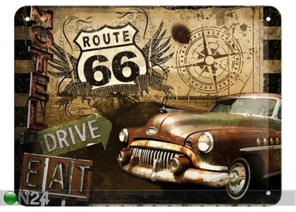 Retro metallijuliste Route 66 Drive&Eat 30x40 cm SG-89739