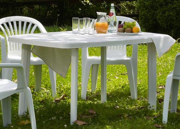 Muovinen puutarhapöytä FARO 137x85 cm EV-89854