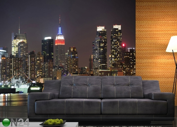 Fliis-fototapeet Night city 360x270 cm ED-90561