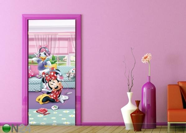 Fliis-fototapeet Disney Minnie and Daisy dancing 90x202 cm ED-91003