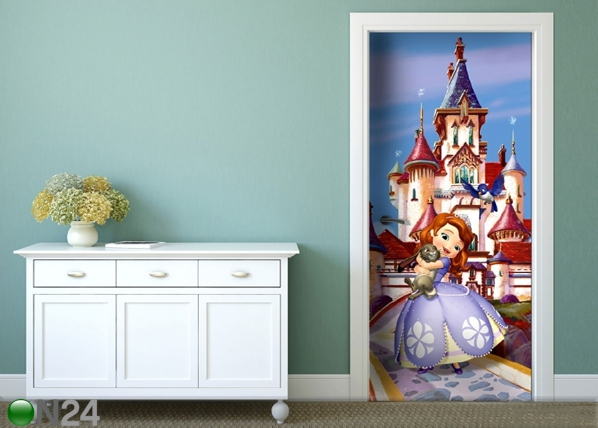 Fleece kuvatapetti DISNEY SOFIA AT THE CASTLE 90x202 cm ED-91062