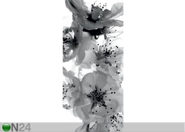 Fleece kuvatapetti BLACK AND WHITE FLOWER 90x202 cm ED-91147