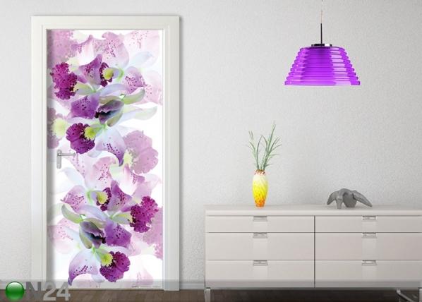 Флизелиновые фотообои White Flowers 90x202 см ED-91150