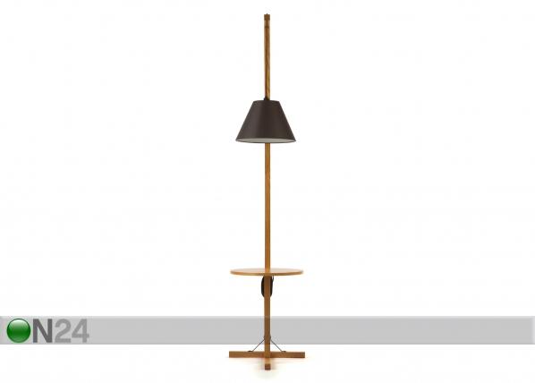Lattiavalaisin FLOOR LAMP TABLE+DARK SHADE WO-91921