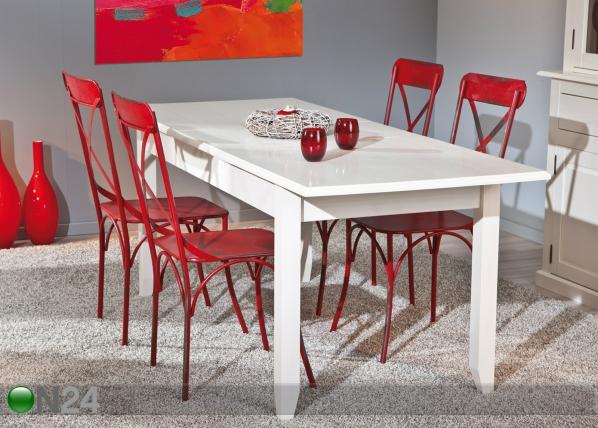 Jatkettava ruokapöytä CASSALA, mänty 160-200x90 cm AY-92100
