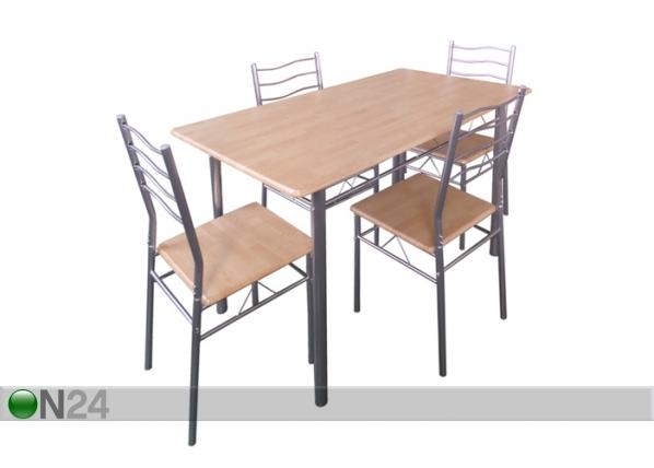 Söögilaud Baremen + 4 tooli AQ-92835