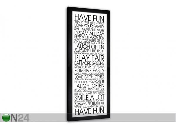 Pilt Have Fun 24x68 cm QA-94208