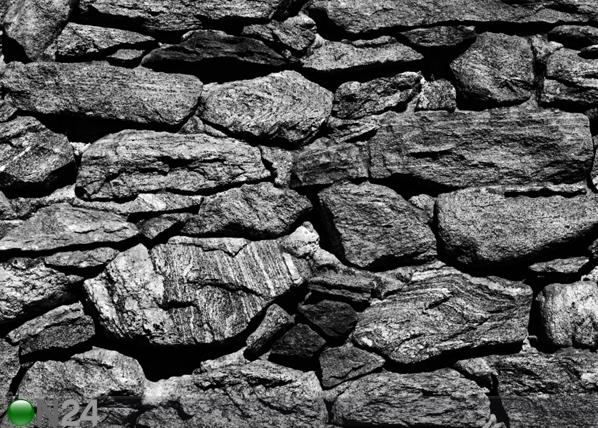 Fliis-fototapeet Black stone wall 360x270 cm ED-94865
