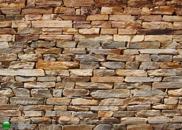 Fliis-fototapeet Brown stone wall 360x270 cm ED-94866