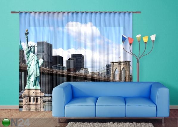 Poolpimendav fotokardin Statue of Liberty 280x245 cm ED-95349