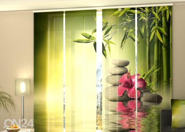 Puolipimentävä paneeliverho BAMBOO LEAVES 240x240 cm, Wellmira