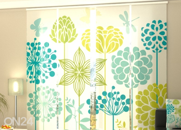 Pimentävä paneeliverho GRAPHIC FLOWERS 240x240 cm, Wellmira