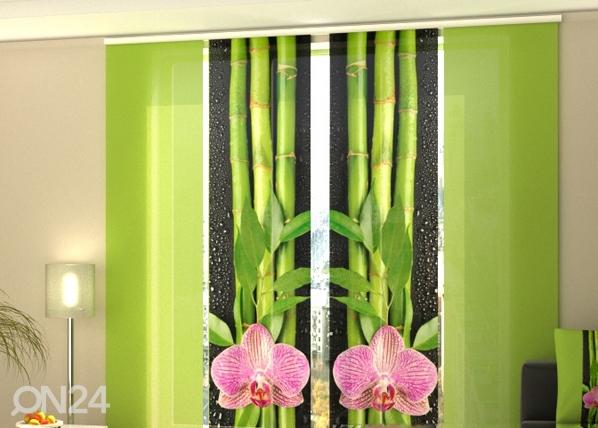 Läpinäkyvä paneeliverho ORCHIDS AND BAMBOO 3, 240x240 cm, Wellmira