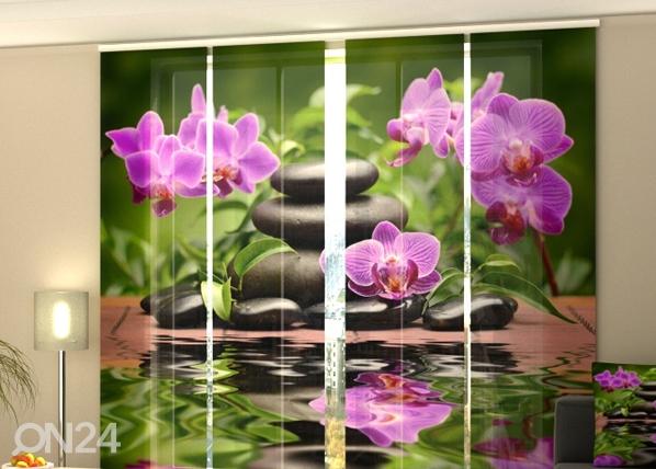 Puolipimentävä paneeliverho ORCHIDS IN THE GARDEN 240x240 cm, Wellmira