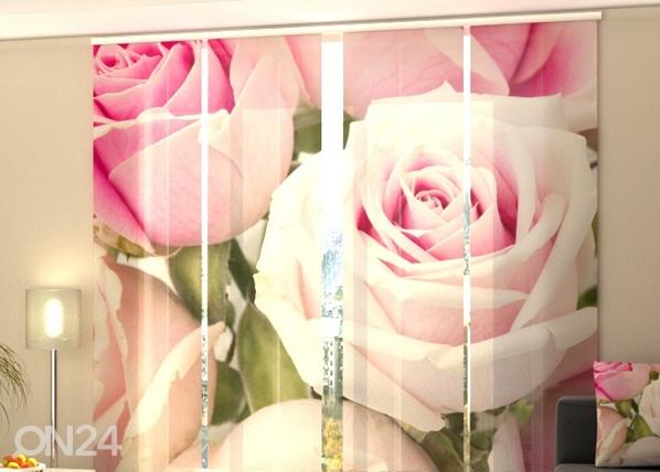 Puolipimentävä paneeliverho ROYAL ROSES 240x240 cm, Wellmira