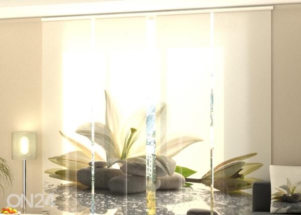 Puolipimentävä paneeliverho LILY ON A STONE 240x240cm, Wellmira