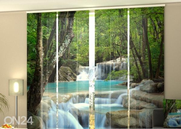 Puolipimentävä paneeliverho THAI WATERFALL IN SPRING 240x240 cm, Wellmira