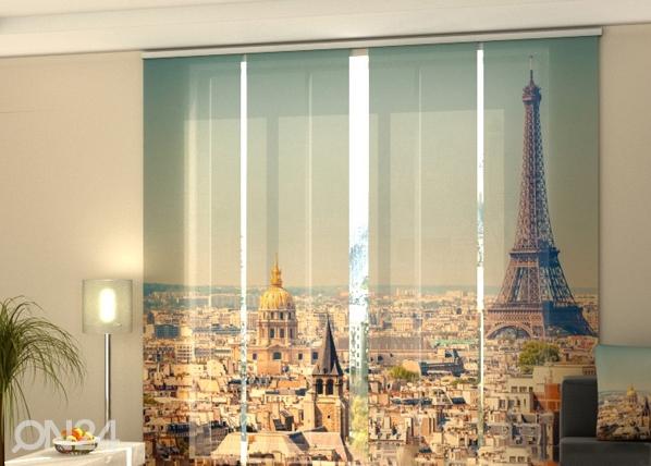 Läpinäkyvä paneeliverho MORNING IN PARIS 240x240 cm, Wellmira