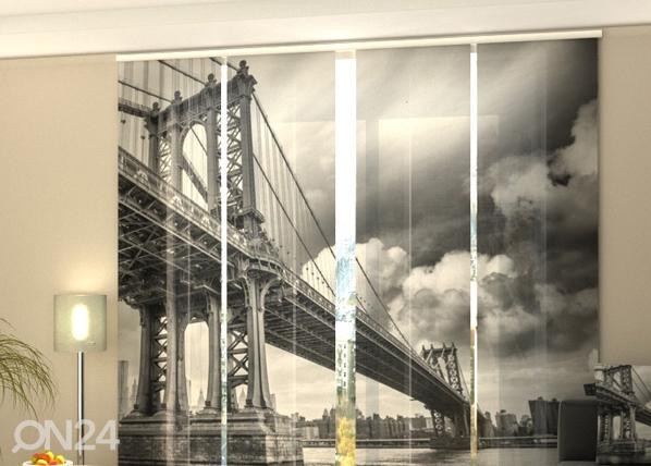 Puolipimentävä paneeliverho BLACK AND WHITE BRIDGE 240x240 cm, Wellmira