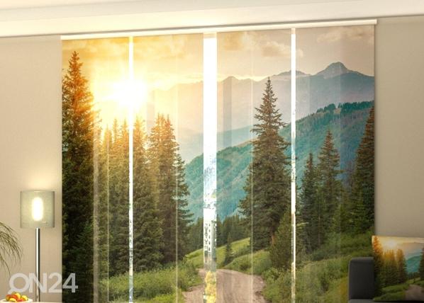 Läpinäkyvä paneeliverho paneeliverho SUN AND MOUNTAINS 240x240 cm, Wellmira