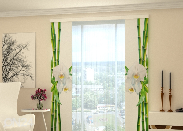 Pimentävä paneeliverho BAMBOO AND WHITE ORCHID 80x240 cm, Wellmira