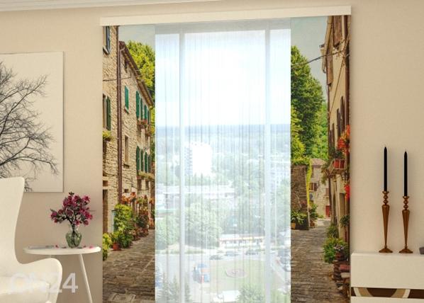 Puolipimentävä paneeliverho NARROW STREET IN ITALY 80x240 cm, Wellmira