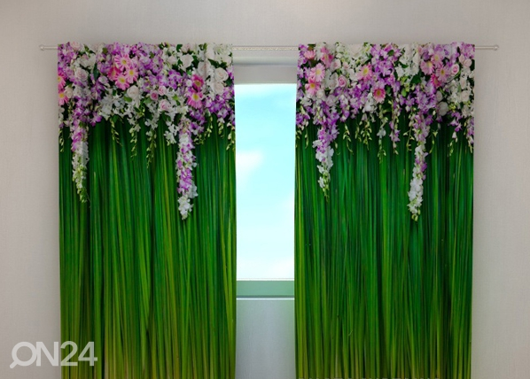 Läpinäkyvä verho FLOWER LAMBREQUINS 240x220 cm, Wellmira
