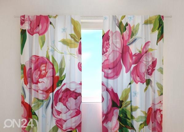 Läpinäkyvä verho FLOWERS 7, 240x220 cm, Wellmira