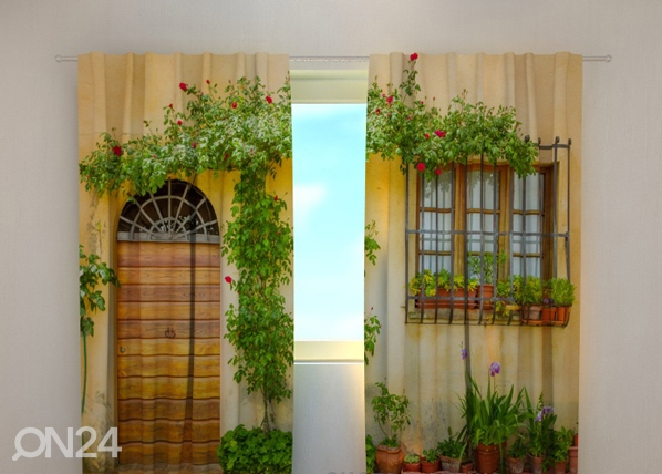 Pimendav kardin Flowers by the door 240x220 cm ED-97951