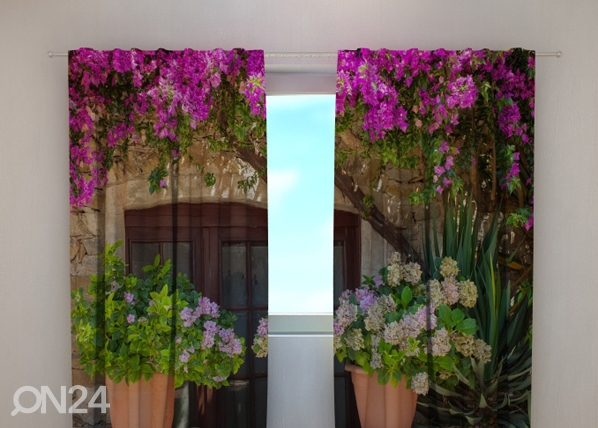 Pimennysverho FLOWERS IN POTS 240x220 cm, Wellmira