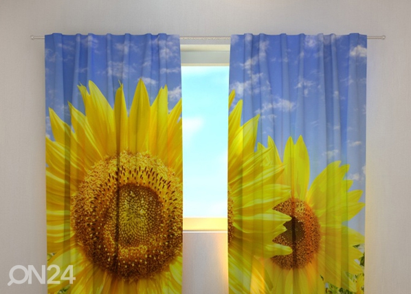 Puolipimentävä verho FLOWERS ON THE SUN 240x220 cm, Wellmira