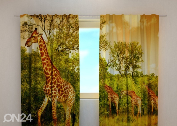 Pimennysverho GIRAFFES 240x220 cm, Wellmira