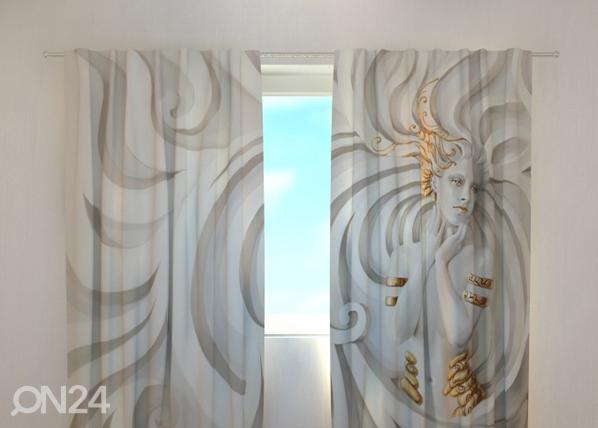 Läpinäkyvä verho GREEK RELIEF 240x220 cm, Wellmira