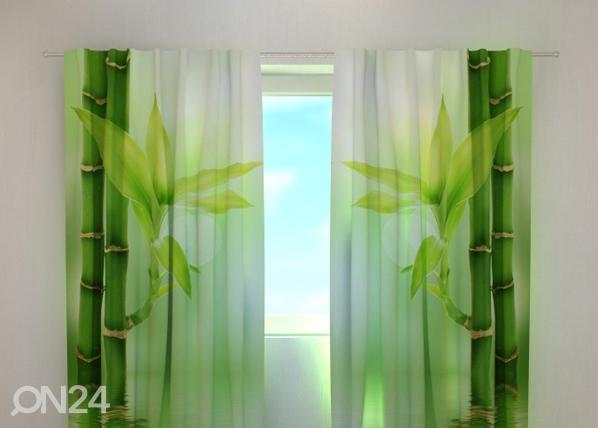 Läpinäkyvä verho GREEN BAMBOO 240x220 cm, Wellmira