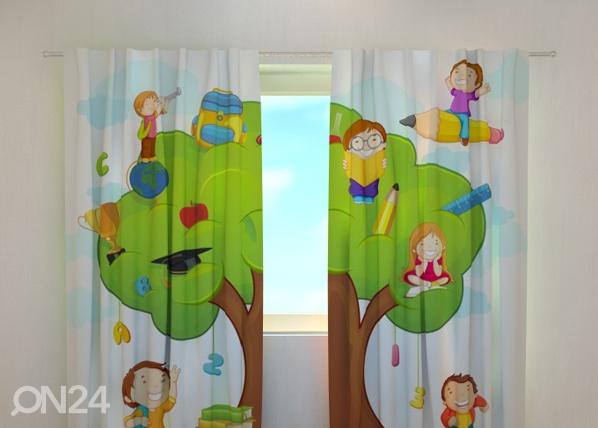 Läpinäkyvä verho HAPPY SCHOOL 240x220 cm, Wellmira