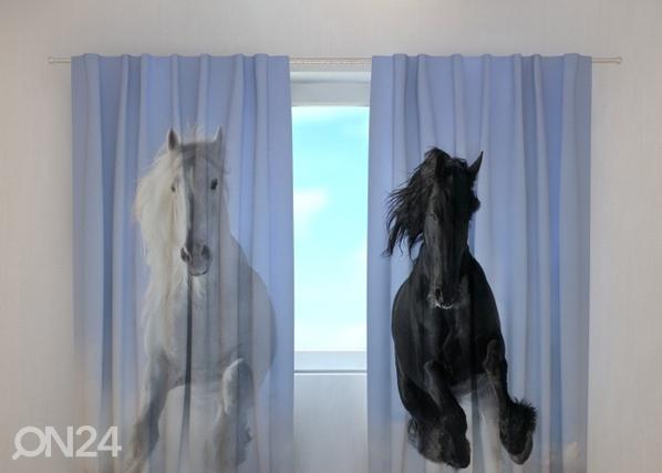 Läpinäkyvä verho HORSES 1, 240x220 cm, Wellmira