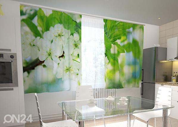Puolipimentävä verho SPRING FLOWERS FOR THE KITCHEN 200x120 cm, Wellmira