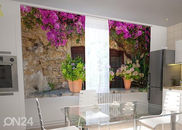 Pimennysverho FLOWER POTS FOR THE KITCHEN 200x120 cm, Wellmira