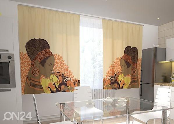 Puolipimentävä verho AFRICAN MOTIVES 200x120 cm, Wellmira