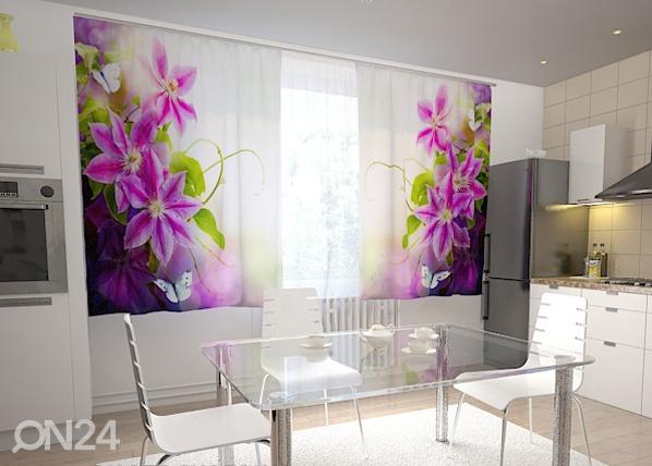 Puolipimentävä verho PERFECTION IN THE KITCHEN 200x120 cm, Wellmira