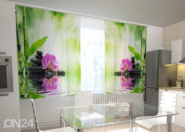 Pimennysverho ORCHIDS AND SUN IN THE KITCHEN 200x120 cm, Wellmira
