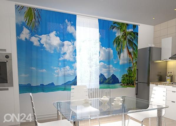 Läpinäkyvä verho BEACH BEHIND THE WINDOW 200x120 cm, Wellmira
