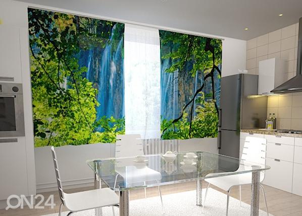 Läpinäkyvä verho WATERFALL BEHIND THE WINDOW 200x120 cm, Wellmira
