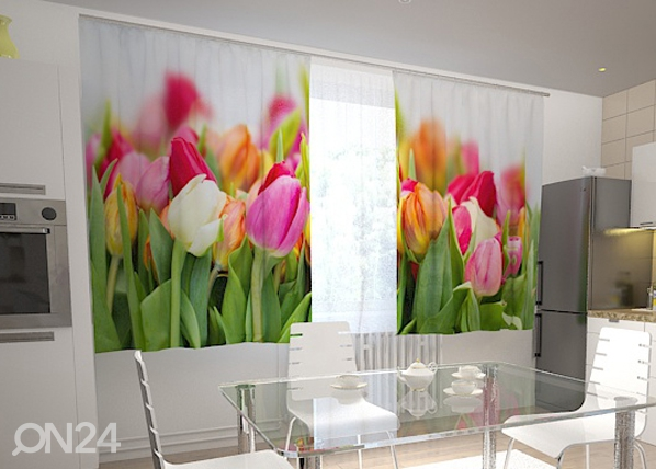 Pimennysverho TULIPS IN THE KITCHEN 200x120 cm ED-98570