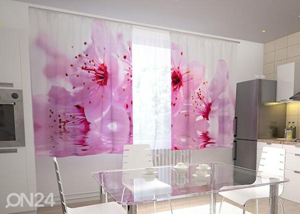 Läpinäkyvä verho FLOWERS CHERRY 200x120 cm, Wellmira