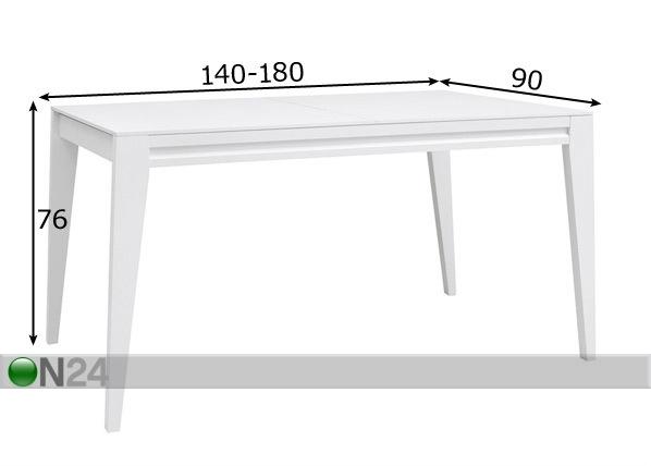 Jatkettava ruokapöytä 90x140-180 cm TF-98659