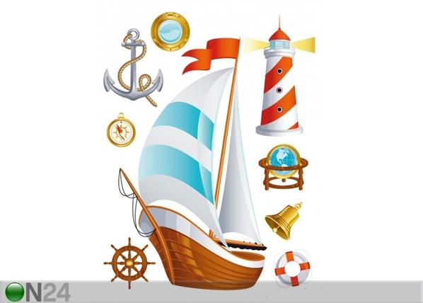 Seinakleebis Boat 42,5x65 cm ED-98686